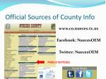 official sources of county info