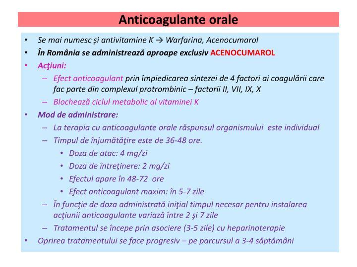 Anticoagulante orale
