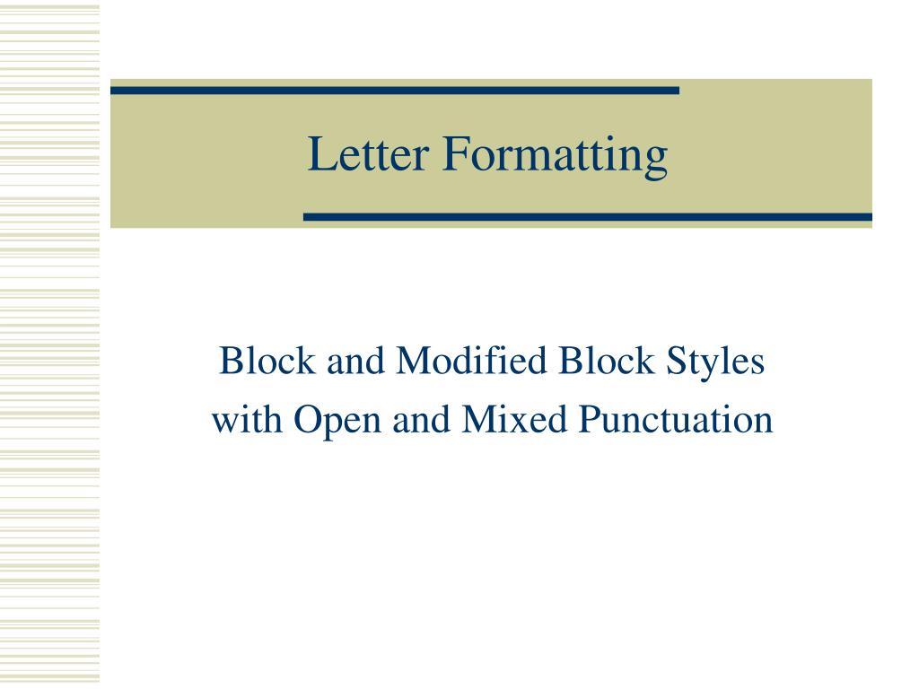 Formatting Of A Letter from image2.slideserve.com