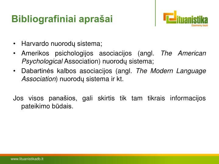 Bibliografiniai aprašai