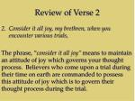 review of verse 2