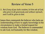 review of verse 5
