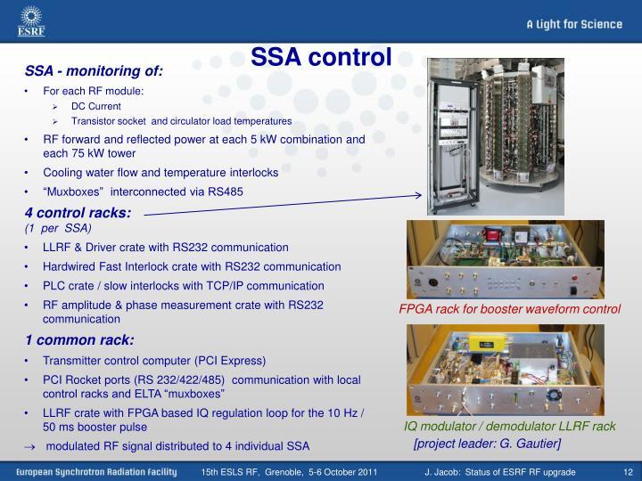 SSA control