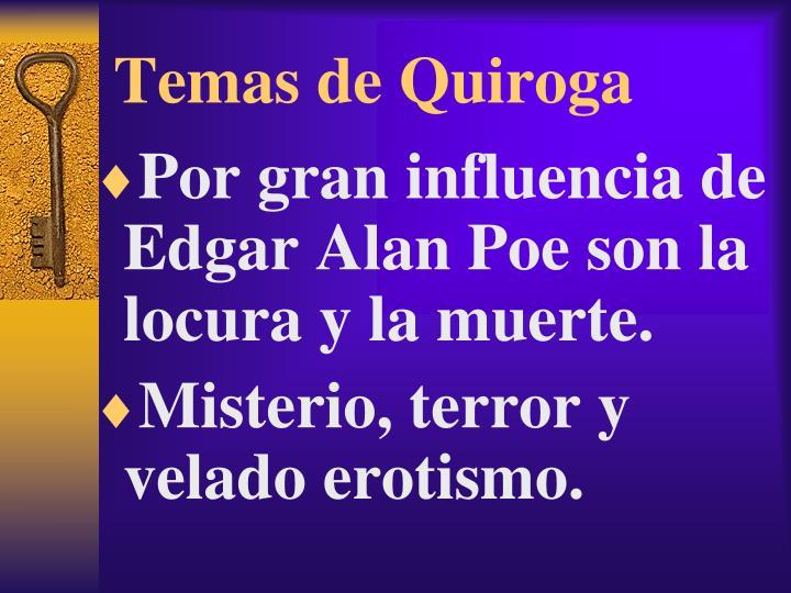 Temas de Quiroga