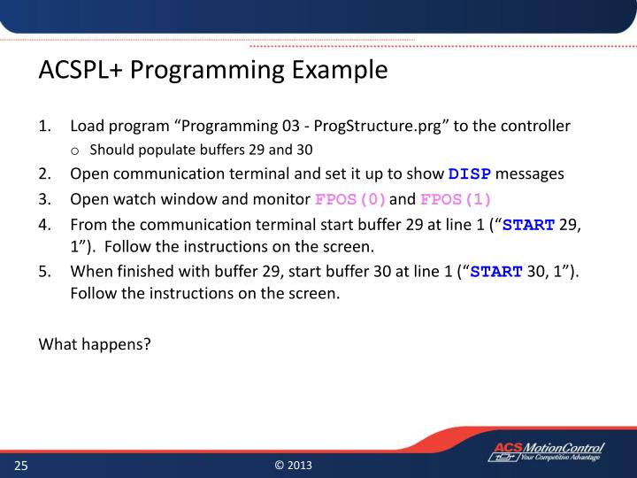 ACSPL+ Programming Example