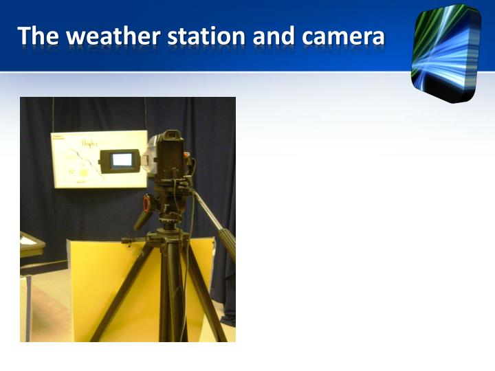 The weather station and camera