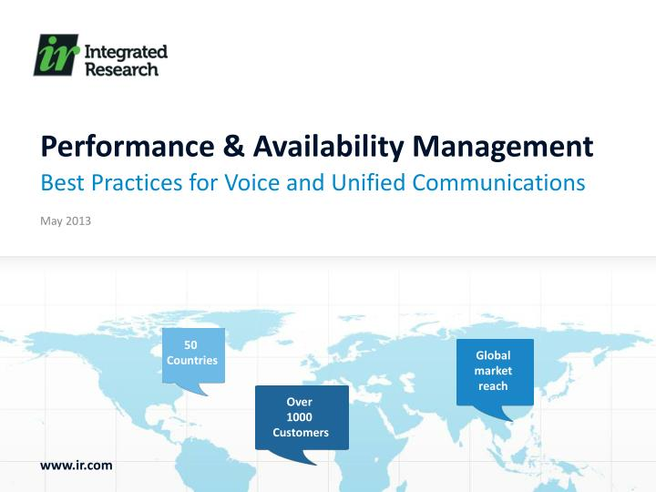 performance availability management n.