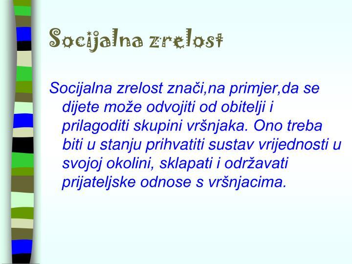 Socijalna zrelost