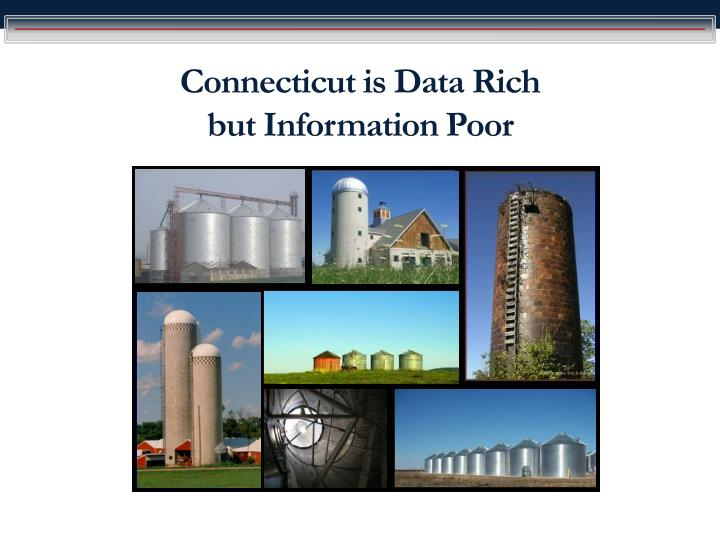 connecticut is data rich but information poor n.