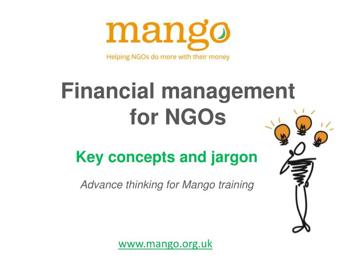 financial management for ngos n.