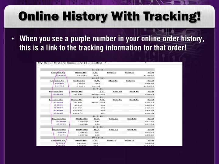 Online History With Tracking!
