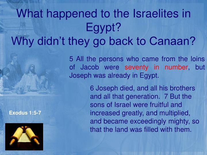 What happened to the Israelites in Egypt?