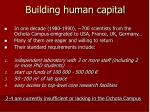 building human capital