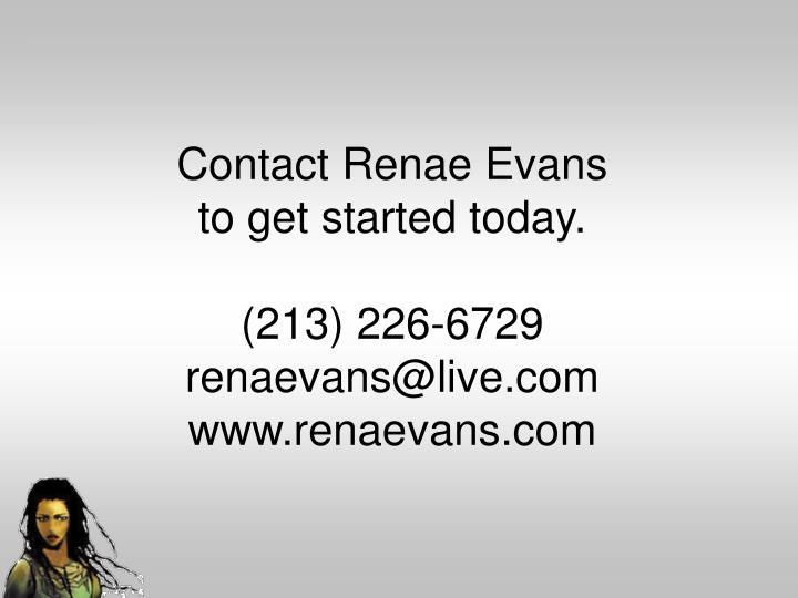 Contact Renae Evans