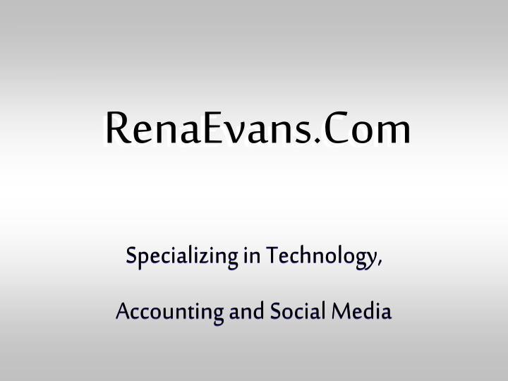 RenaEvans.Com