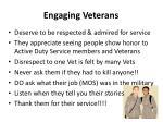 engaging veterans