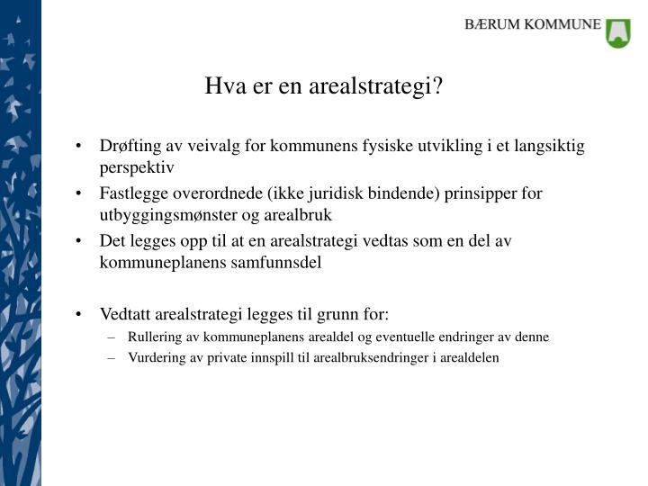 Hva er en arealstrategi?