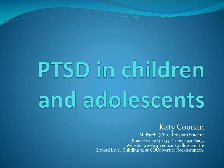 ptsd in children and adolescents n.