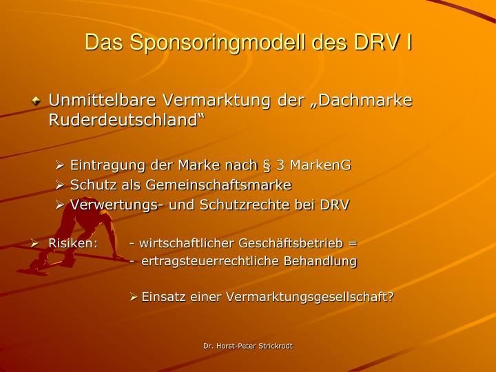 Das Sponsoringmodell des DRV I