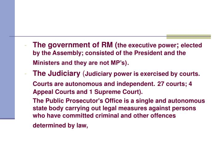 The government of RM (