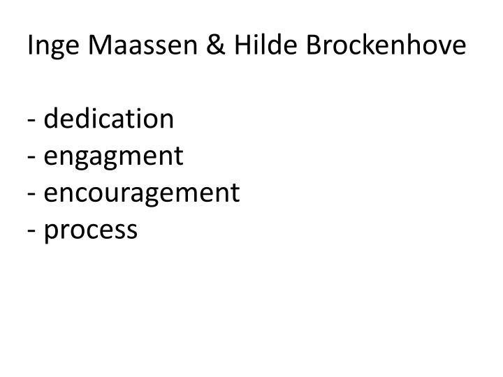 Inge Maassen & Hilde Brockenhove