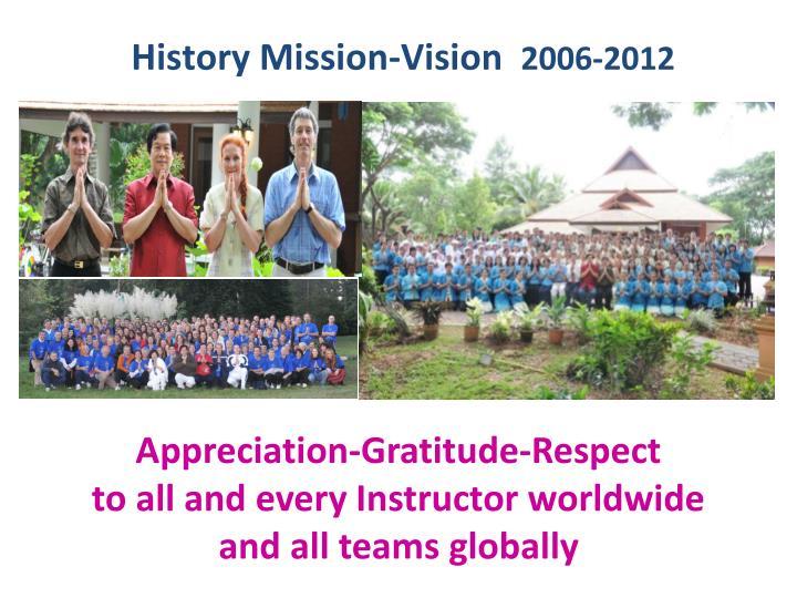 History Mission-Vision