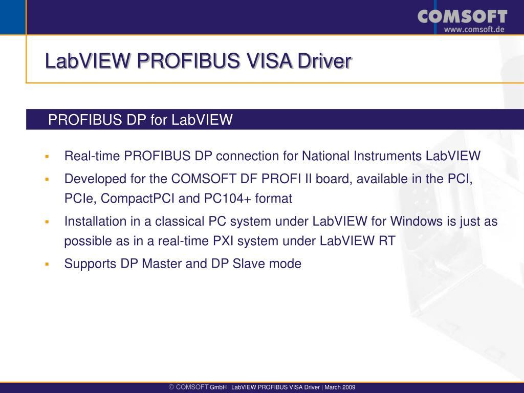 LABVIEW PROFIBUS DRIVER DOWNLOAD FREE