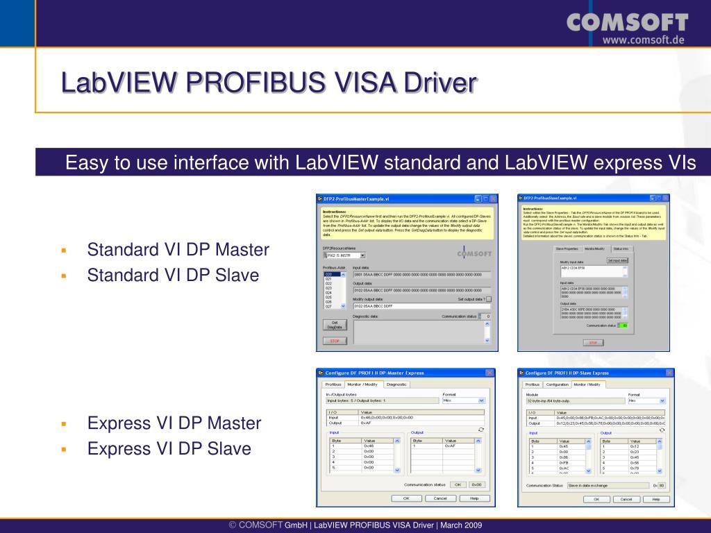LABVIEW PROFIBUS DRIVER FOR WINDOWS 8