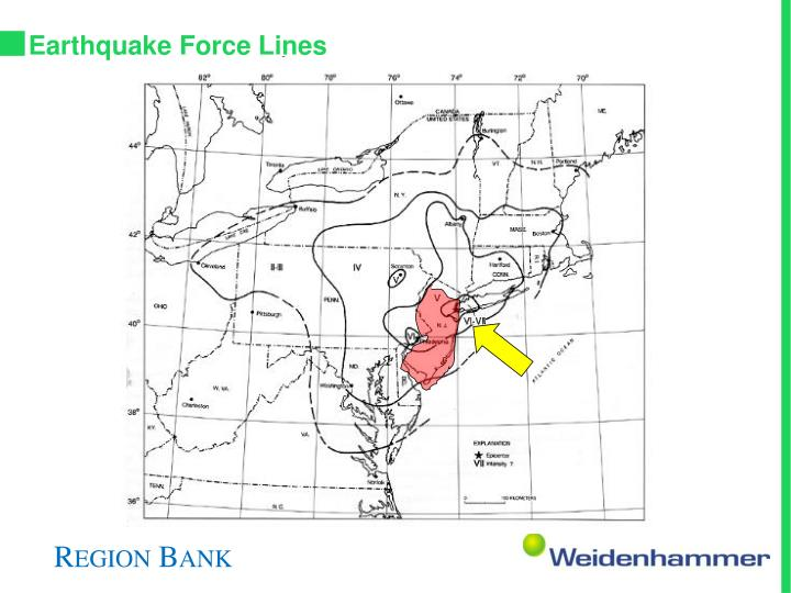 Earthquake Force Lines