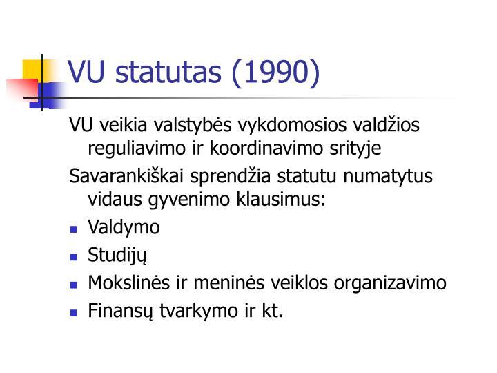 Vu statutas 1990