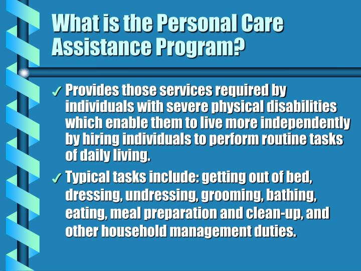 What is the Personal Care Assistance Program?