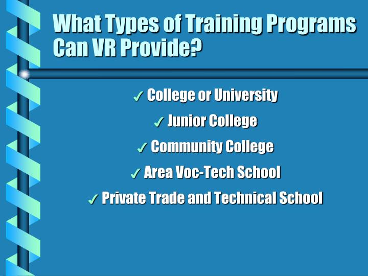 What Types of Training Programs Can VR Provide?