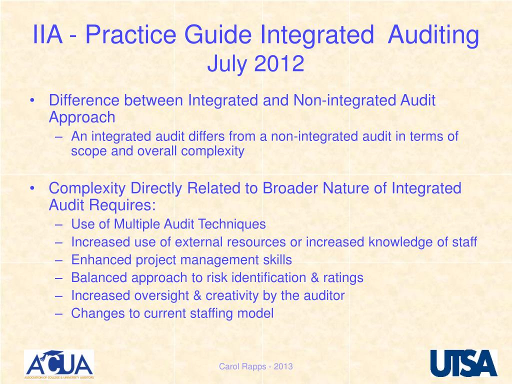PPT - INTEGRATED AUDITING PowerPoint Presentation - ID:4835385