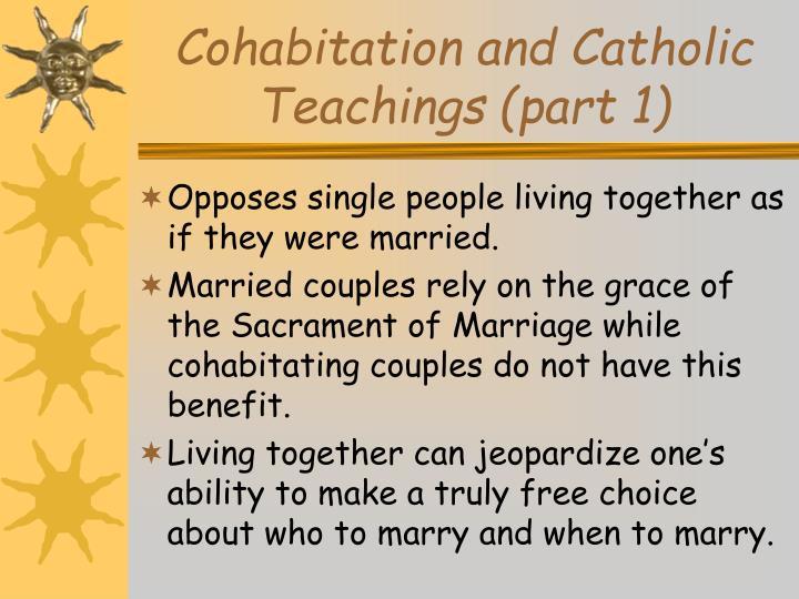 Cohabitation catholic