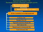 organizational structure of the nationwide network of networks community activity