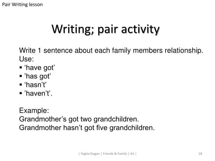 Pair Writing lesson