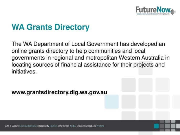 WA Grants Directory