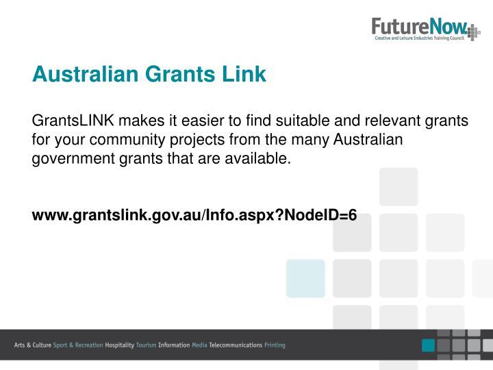 Australian Grants Link