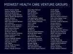 midwest health care venture groups