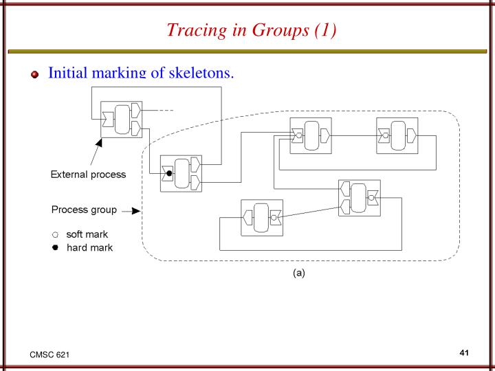 Tracing in Groups (1)