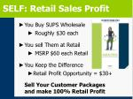 self retail sales profit