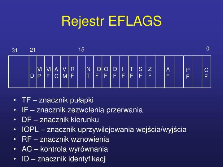 Rejestr EFLAGS