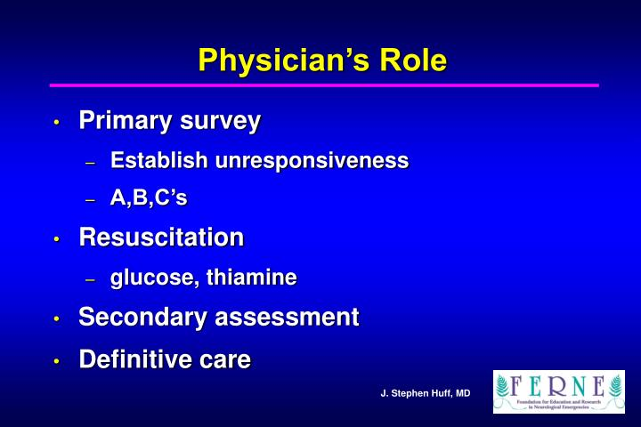 Physician's Role