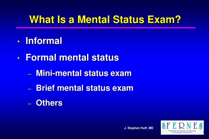 What Is a Mental Status Exam?