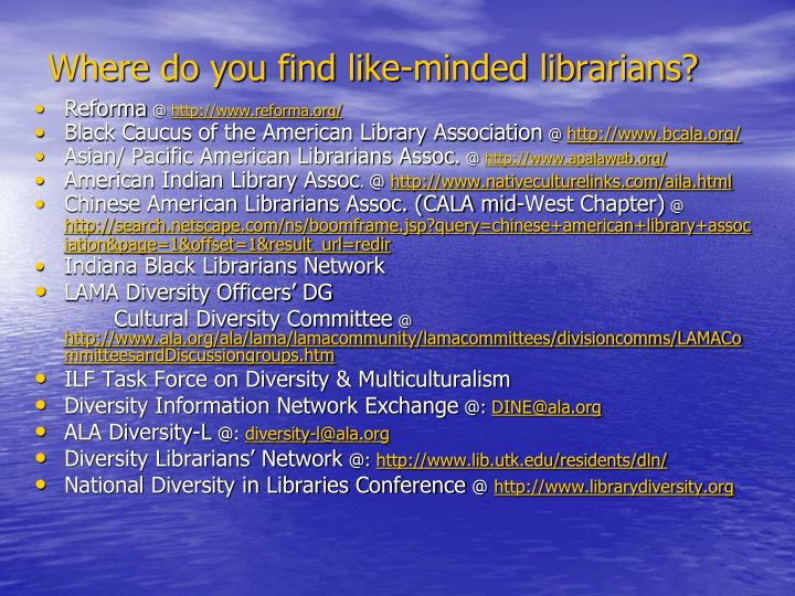 Where do you find like-minded librarians?