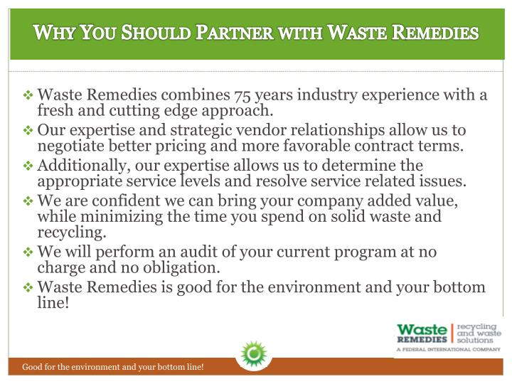 Why You Should Partner with Waste Remedies