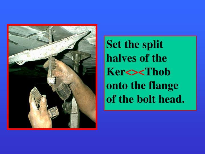 Set the split halves of the
