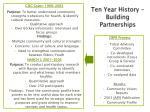 ten year history building partnerships