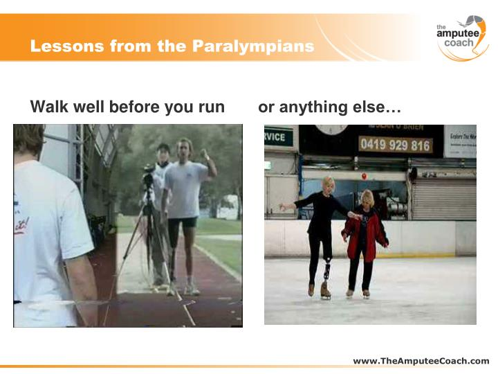 Lessons from the Paralympians