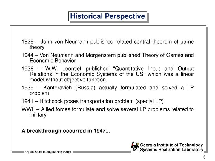 1928 – John von Neumann published related central theorem of game theory